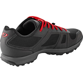 Giro Gauge Schoenen Heren, black/bright red